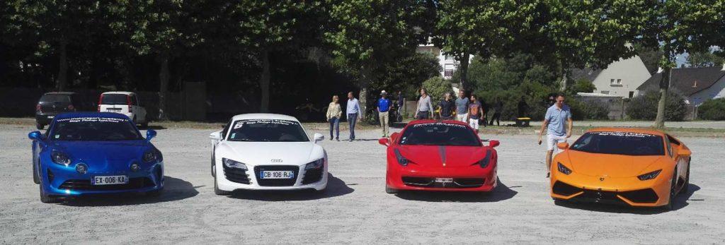 L'alpine, la R8, la Ferrari ou la Lamborghini sur route