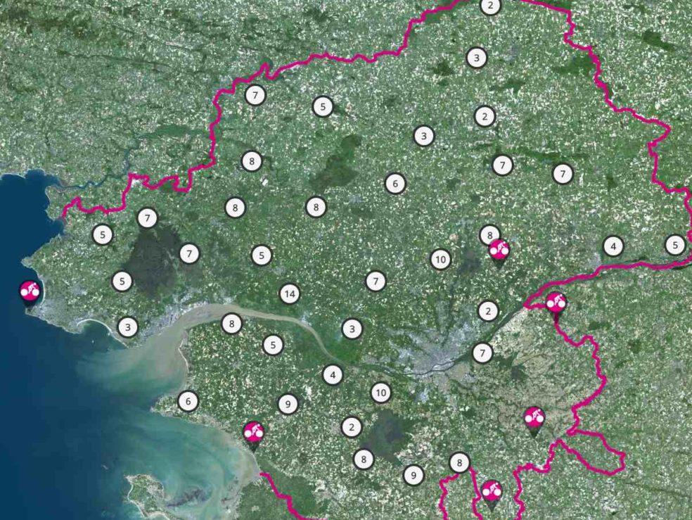 carte des randonnées VTT nantes