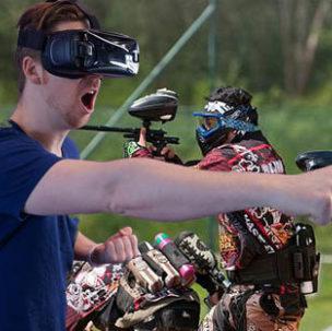 Du paintball face à de la réalité virtuelle