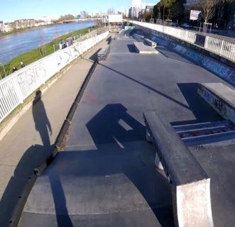 Le skatepark de Doumergue à Nantes