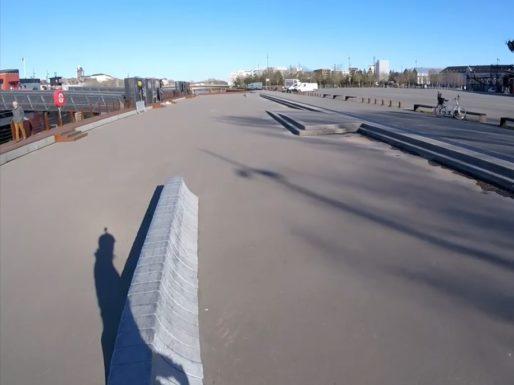 Spot de skate de l'ile de nantes